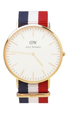 Daniel Wellington Cambridge 40mm watch in Red - $195 #watch #gift #DW