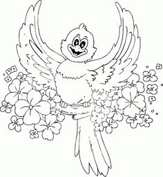 spring bird coloring page - Coloring.com