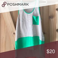Naked Zebra Tank High-low and color block! Naked Zebra Tops Tank Tops