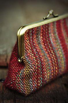 Woven change purse