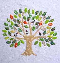 This could be a family tree quilt, and put names on the leaves! but it would be difficult to add, and goodness knows families are ever-expanding...