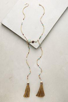 Edine Tassel Necklace #anthropologie