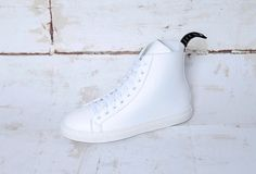 Here's our idea of winter white: comfy microfiber kicks with street style.