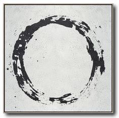 CZ Art Design - Hand painted Minimal Black and White Painting #MN19A by Celine Ziang, for neutral home and minimal interiors. @CelineZiangArt