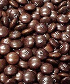 Brown M's - the best because there's no artificial coloring because chocolate is already brown