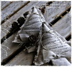 Burlap ornaments... now there's a project!