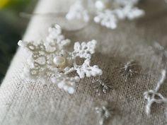 *雪の結晶のピアス*【オーダーメイド】 - kamacosan.
