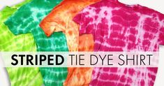 Have you always wanted to tie dye, just didn't know where to start?Here's an easy way to get your feet wet using Tulip One-Step Tie Dye...