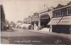 The Woolworth store in High Street, Sutton, Surrey, which opened in 1918 South London, Old London, West London, Old Pictures, Old Photos, Vintage Photos, Back In Time, Back In The Day, Sutton Surrey