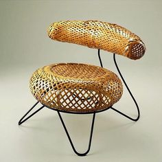 Bamboo Basket Chair by Isamu Noguchi and Isamu Kenmochi, 1950