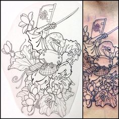 Did this a week ago, lines of Samurai frog on side... | HORITSUGU TATTOO