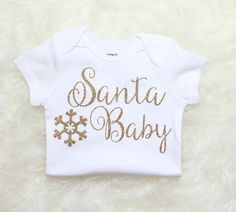 Hey, I found this really awesome Etsy listing at https://www.etsy.com/listing/253068721/santa-baby-gold-glitter-christmas-girls