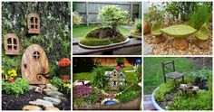 Inspire yourself in 16 DIY cute fairy garden and fairy garden furniture that will make you say wow! Create A Fairy, Fairy Garden Furniture, Fairy Village, Cute Fairy, Gnome House, Garden Projects, House Projects, Garden Ideas, Fairy Land