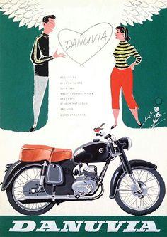 Bike Poster, Motorcycle Posters, Motorcycle Art, Motorcycle Design, Retro Advertising, Vintage Advertisements, Vintage Ads, Vintage Posters, Vintage Bikes