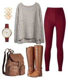 """""""otoño"""" by andy-ag on Polyvore featuring Madden Girl, H&M, Monsoon and FOSSIL"""