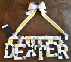 Hockey Stick With Name For Baby Nursery Or Childs Room. http://www.etsy.com/shop/NansSprinkles