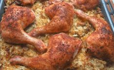 Kuřátko připravené na jiný způsob, zapečené s kysaným zelím recept Chicken Recepies, Turkey Chicken, Good Food, Yummy Food, Tandoori Chicken, Food Videos, Food To Make, Food And Drink, Cooking Recipes
