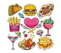 Cartoon food 01 vector Vector cartoon - Free vector for free download
