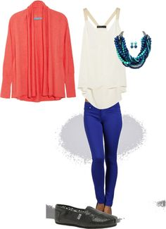 """""""Blue Skinny Pants"""" by maria-gillham on Polyvore"""