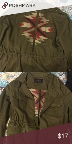 embroidered cargo jacket size small, barely worn. very cute embroidery on back. Blu Pepper Jackets & Coats