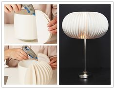 DIY Awesome Paper Plate Lamp | UsefulDIY.com Follow Us on Facebook ==> http://www.facebook.com/UsefulDiy