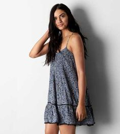 AEO Ruffled Shift Dress. A pretty laidback dress for life's unexpected turns. #AEOSTYLE