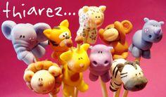 animals by thiarez on DeviantArt Clay Magnets, Pasta Flexible, Bowser, Fondant, Safari, Decoupage, Polymer Clay, Deviantart, Christmas Ornaments