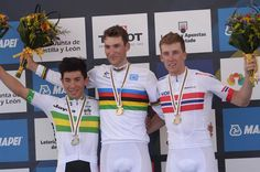 #Ponferrada2014 #Worlds #Bystrom solos to #gold in #U23 #roadrace - Under-23 road race podium