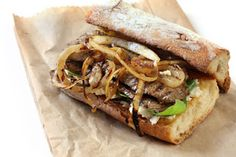Home made steak sandwich at www.thegourmetmom.com