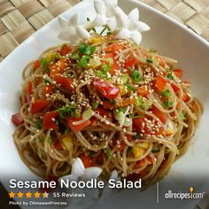 Sesame Noodle Salad | Served chilled or warm, this noodle salad easily pairs with your favorite summertime foods.