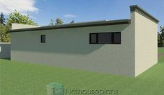 Low Cost House Plans, My House Plans, Garage House Plans, Family House Plans, Flat Roof Design, Flat Roof House Designs, Small House Design, 2 Room House Plan, 2 Bedroom House Plans