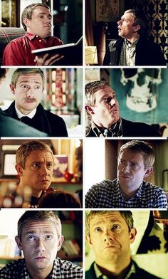 John Watson love the way the majority of the shocked faces are from when he's looking at Irene and Sherly :)