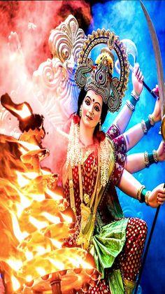 Happy Navratri Images, Durga Goddess, Hindu Art, Captain Hat, Nature, Fashion, Moda, Fashion Styles, Naturaleza