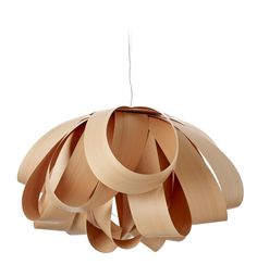 LZF Lamps | Agatha, Large Suspension Lamp in beech | Wood touched by Light | Handmade Wood Lighting since 1994