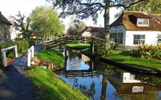 Giethoorn canals Holland The Venice of The North