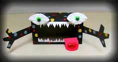 tissue box monster with small dots