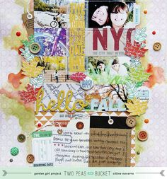 Hello Fall | Autumn layout by Céline Navarro