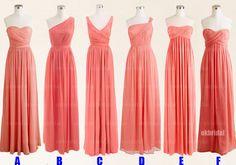 Peach+bridesmaid+dresses+cheap+bridesmaid+dresses+by+okbridal,+$126.00