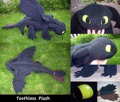 Toothless plush tutorial