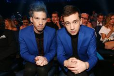 Josh Dun Photos Photos - Recording artists Josh Dun (L) and Tyler Joseph of Twenty One Pilots attend the 2014 MTV Movie Awards at Nokia Theatre L.A. Live on April 13, 2014 in Los Angeles, California. - Inside the MTV Movie Awards