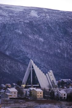The Arctic Cathedral, Tromso, Norway @Brandi {Alexis June Weddings}