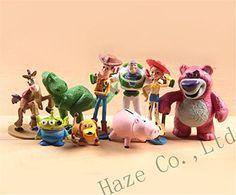 Set of 9pcs Toy Story 3 Action Figure Buzz Woody Jessie Figures Dinosaur Dot