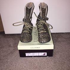 Flap Down Fur Cheetah Boots.