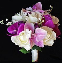 Artificial flower wedding bouquet, lavender