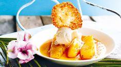 Sparka igång OS i Brasilien med den här soliga desserten. Smältande god ananas, knäckigt kokosflarn och isande vaniljglass. Kan det bli bättre?