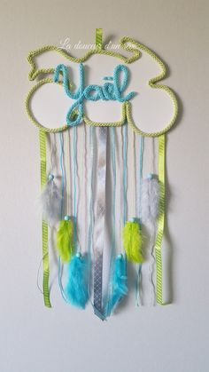 licorne attrape r ve en tricotin personnalisable avec le pr nom de l 39 enfant lula couleurs arc en. Black Bedroom Furniture Sets. Home Design Ideas