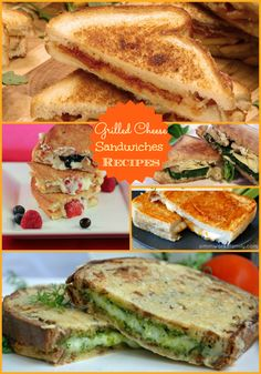 Grilled Cheese Sandwiches ~ so many yummy options shared in this post!