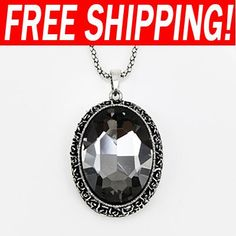 Luxury black crystal women long necklaces & pendants fashion necklace 2013 designer brand nke-h38 $4.99