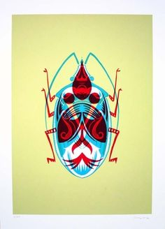 Adam Gale Beetle 2012 Screenprint 140 GBP About this Artwork Hand printed 3 colour screenprint on Fabriano Artisico 300 gsm - cotton acid free paper 50 × 70 cm (unframed) From a limited edition of 30 Illustrations Posters, Poster Prints, Illustration, Drawing Illustrations, Online Art, Screen Printing, Insect Art, Art, Prints