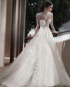 White/Ivory Bridal Gown Wedding Dress Custom Size 6-8-10-12-14-16-18+ ++